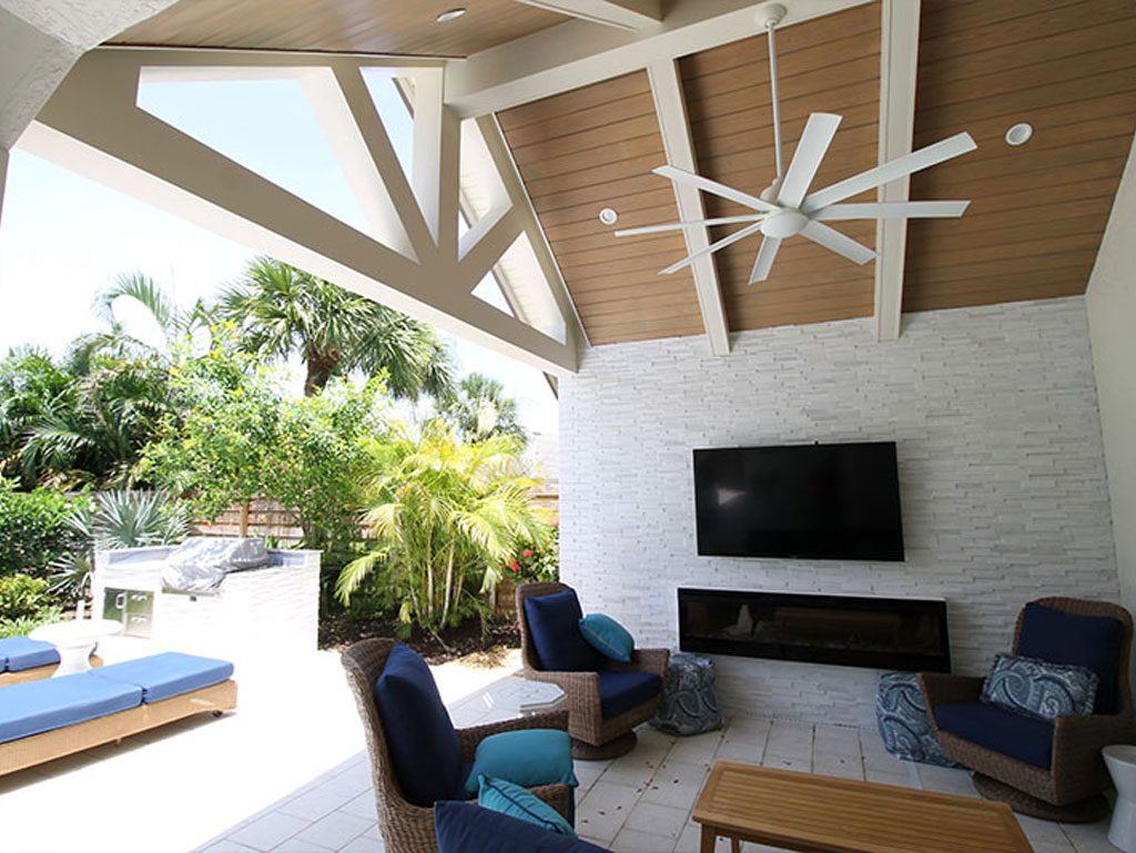 Large Outdoor Living Area | Pride Construction Naples