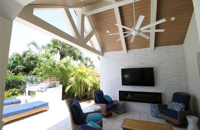 Outdoor Living Area | Pride Construction Naples